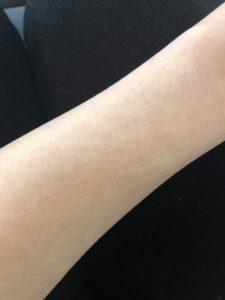 ゆかっぺ 銀座カラー 腕